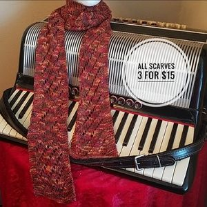 Accessories - GORGEOUS FALL COLORED KNIT SCARF